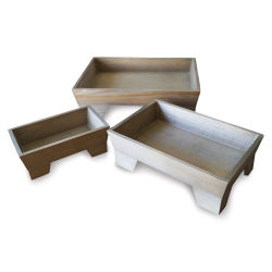 Hampton Art Footed Wooden Tray Set