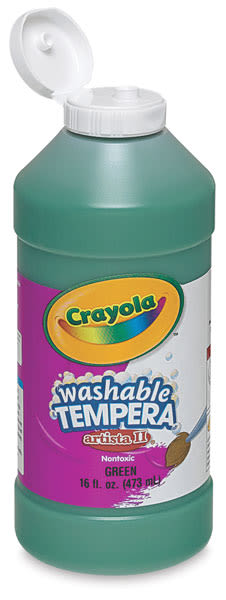 Crayola Artista II Liquid Washable Tempera - Green, 16 oz bottle