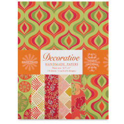 Shizen Decorative Paper - 8-1/2'' x 11'', Orange/Yellow