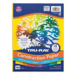 "Pacon Tru-Ray Construction Paper - Color Wheel Assortment, 9"" x 12"", 144 Sheets"