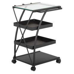 Studio Designs Triflex Taboret - Charcoal w/ Clear Glass