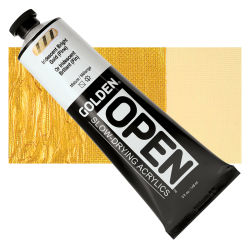 Golden Open Acrylics - Iridescent Bright Gold (Fine), 5 oz, Tube with Swatch