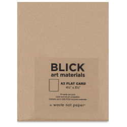 Blick Stationery - A2 Flat Card, Paper bag, 4-1/4'' x 5-1/2'', Pkg of 10
