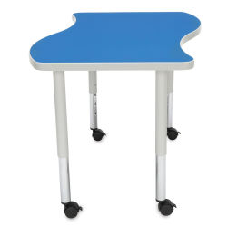 OFM Adapt Table - Small Wave, 20'' - 28'' Height, Blue