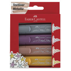 Faber-Castell Metallic Textliner - Wallet Set of 4