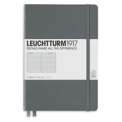 Leuchtturm1917 Notebook - Medium Notebook, Anthracite, 8-1/4'' x 5-3/4''