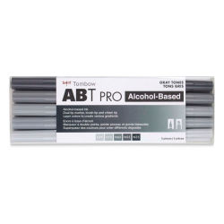 Tombow ABT PRO Alcohol Markers - Gray Tones, Set of 5