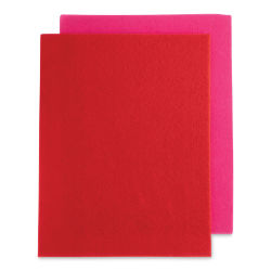 John Bead GoodFelt Beading Foundation - Red and Pink, 4 Sheets, 8-1/2'' x 11''