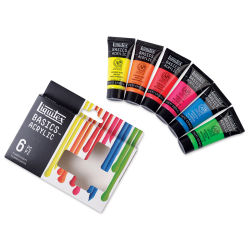 Liquitex Basics Acrylic Set - Set of 6 Fluorescent, .75 oz Tubes