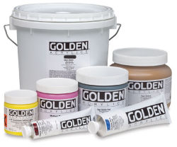 Golden Heavy Body Artist Acrylics, various sizes.