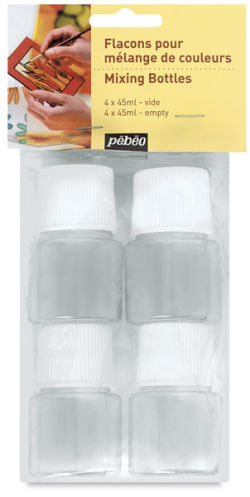 Pebeo Vitrail Accessories - Mixing Bottles, Set of 4, 45 ml bottle