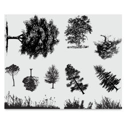 Mayco Designer Silkscreens - Trees and Grass