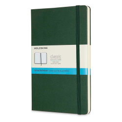 "Moleskine Classic Hardcover Notebook - Metallic Green, Dotted, 8-1/4"" x 5"""