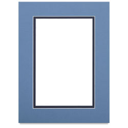 Blick Double Mat - Biscay Blue / Newport Blue, 9'' x 12'' (5-1/2'' x 8-1/2'' Opening)
