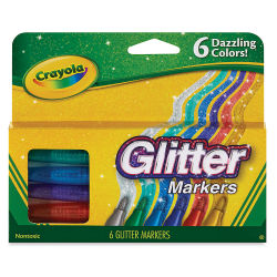 Crayola Glitter Markers, Set of 6