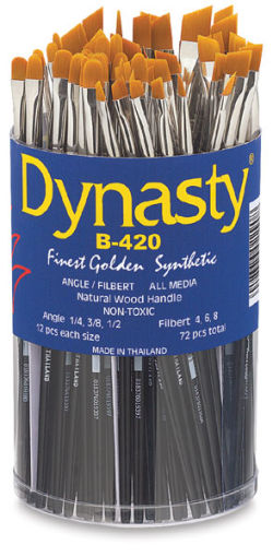 Finest Golden Synthetic Brush Set