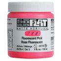 Golden SoFlat Matte Acrylic Paint - Fluorescent Pink, 118 ml, Jar