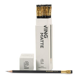 Blackwing Pencils - Blackwing, Pkg of 12. In package, one pencil out of package.