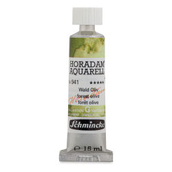 Schmincke Horadam Aquarell Artist Watercolor - Forest Olive, 15 ml, Tube with Swatch