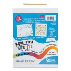 "Now You See It! Art Paper - Radiant Rainbow, 8-1/2"" x 11"", Package of 50 Sheets (In packaging, pictured with etching stick)"