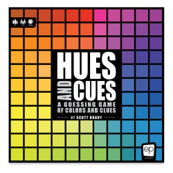 Hues and Cues: A Guessing Game of Colors and Clues Front of Box