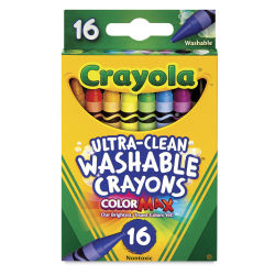 Crayola Ultra-Clean Washable Crayons - Regular, Set of 16