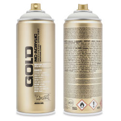 Montana Gold Acrylic Professional Spray Paint - Ceramic, 400 ml (Front and back of spray can)