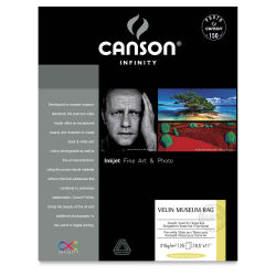 Canson Arches Velin Museum Rags - 8-1/2'' x 11'', Pkg of 25