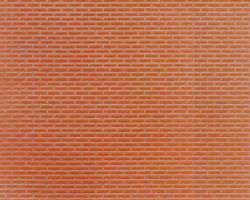 Plastruct Patterned Sheets, Brick, 1:100 Scale (finished example)