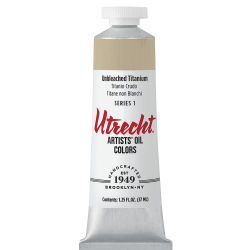 Utrecht Artists' Oil Paint - Unbleached Titanium, 37 ml tube
