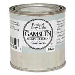 Gamblin Artist's Oil Color - Portland Gray Light, 8 oz Can