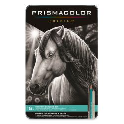 Prismacolor Graphite Drawing Set - Graphite, Set of 18