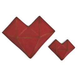 Sizzix Thinlits Dies - Faceted Heart Dies by Tim Holtz, Set of 2