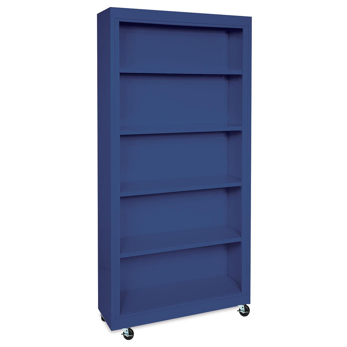 Sandusky Lee Mobile Bookcase - 36 x 78 x 18, Blue