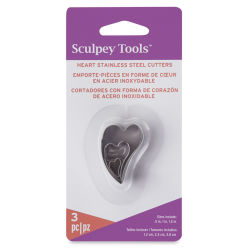 Premo! Sculpey Metal Clay Cutters - Irregular Hearts, Set of 3