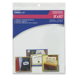 Westcott BetterLetter Self-Adhesive Laminating Sheets - 8'' x 10''