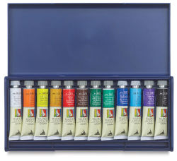 Maimeri Artist Gouache Plastic Box Set - Set of 12 Colors, 20 ml tubes