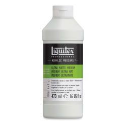Liquitex Acrylic Mediums - Ultra Matte, 16 oz Bottle. Front of bottle.