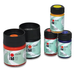 Marabu Glas Glass Paint - Black, 15 ml