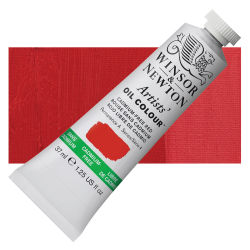 Winsor & Newton Artists' Oil Color - Cadmium Free Red, 37 ml, Tube with Swatch