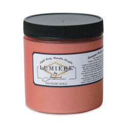 Jacquard Lumiere Acrylic - Rose Gold, 8 oz Jar