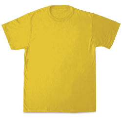 First Quality 50/50 T-Shirts, Adult Sizes - Yellow Medium
