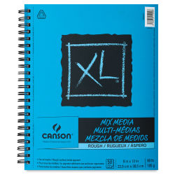 Canson XL Mix Media Sketchbook - 9'' x 12'', Rough, 60 Sheets