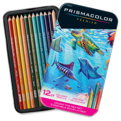 Prismacolor Premier Colored Pencil - Under the Sea Colors, Set of 12