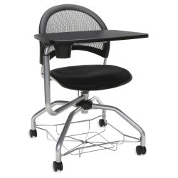 OFM Moon Foresee Chair with Tablet - Mesh Back, Fabric Seat Cushion