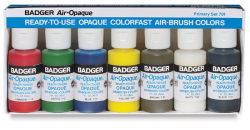 Badger Air-Opaque Airbrush Color - 1 oz, Primary Set