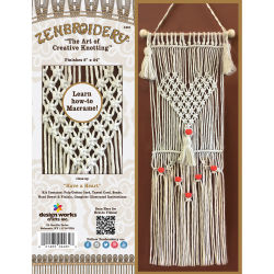 Design Works Zenbroidery Macramé Kit - Have a Heart