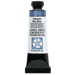 Daniel Smith Extra Fine Watercolor - Luminescent, Iridescent Blue Silver, 15 ml Tube