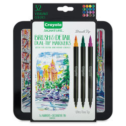 Crayola Signature Brush and Detail Dual Ended Markers