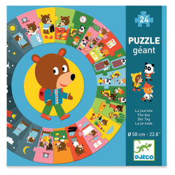 Djeco Giant Floor Puzzle - Day of the Bear, 24 Pieces